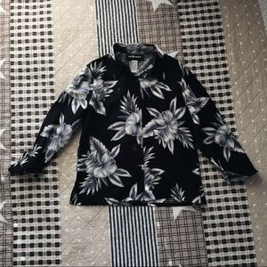 Sag Harbor black floral blouse
